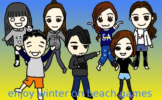 enjoy winter on beach games