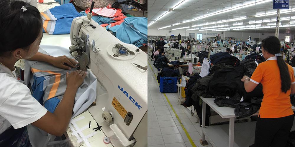 OEMの現場、縫製